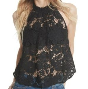 Free People Sweet Meadow Dreams Lace Top I…